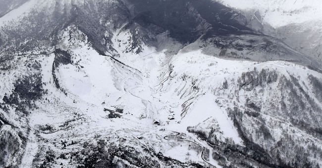 12 skiers injured by flying rocks as Japanese volcano erupts