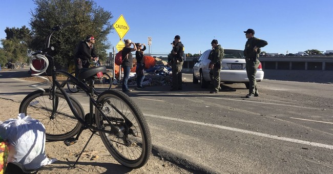 Deputies move to clear big California homeless encampment