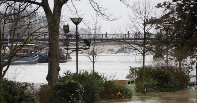 Seine River overflows its banks in Paris