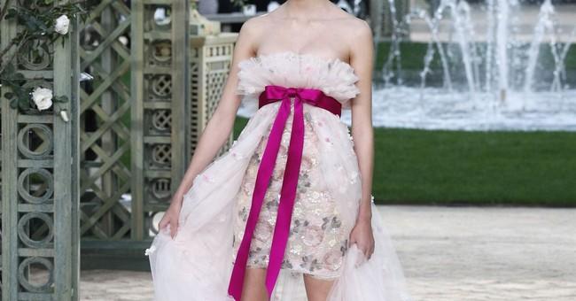 Chanel's garden couture delights Paris celebrity guests