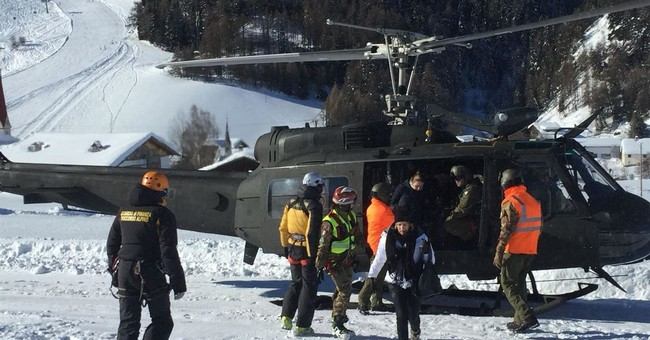 The Latest: Avalanche danger prompts evacuations in Italy