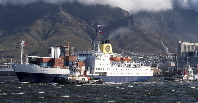 British ship heads for St. Helena island on final voyage