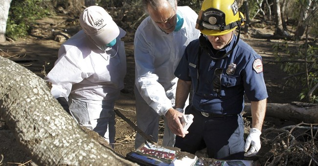 Emotional residents return to California mudslide area