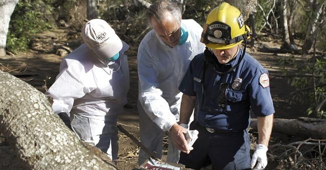 Emotional residents return to California mudslide area