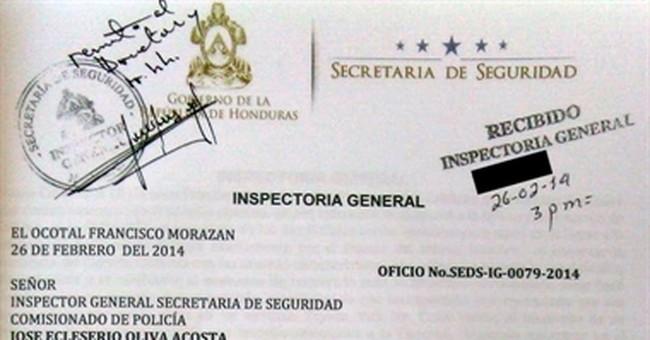Excerpt from secret Honduran report on new top cop