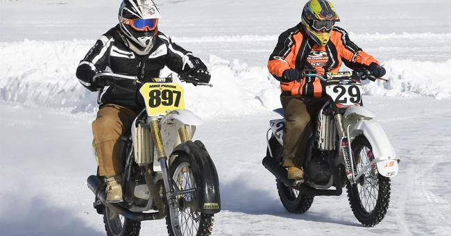 Freezy riders: Motorcyclists stay cool to race frozen lakes
