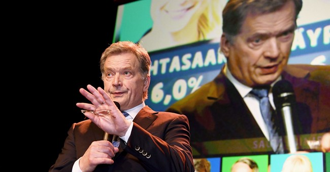 The Latest: Finland's president wins landslide re-election