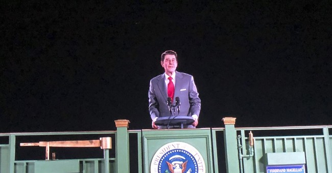 Ronald Reagan is back on the campaign trail - as a hologram