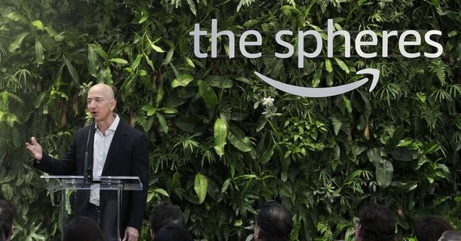 Striking Amazon 'Spheres' landmark opens in downtown Seattle