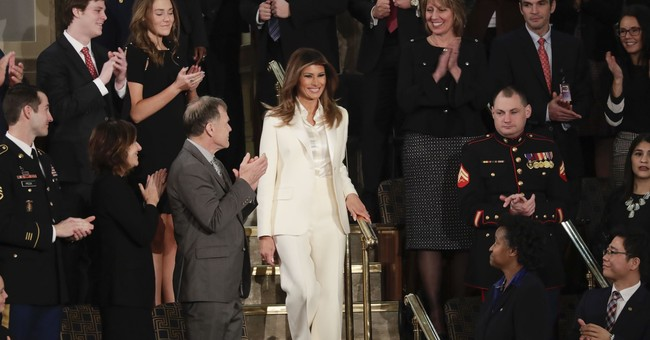 First lady Melania Trump dons Dior for State of the Union
