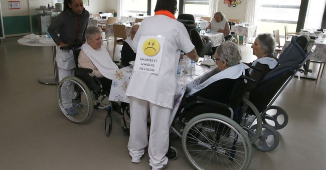 French nursing home workers protest job shortages, cost cuts