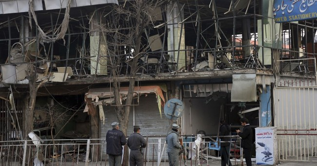 Stepped up violence alternately claimed by IS and Taliban