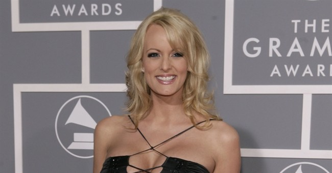 Porn star weaves tangled tale on alleged affair with Trump