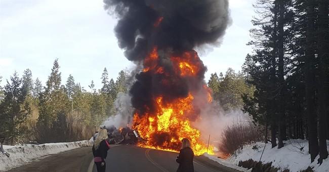 Fuel tanker truck shoots up flames in crash that kills 2