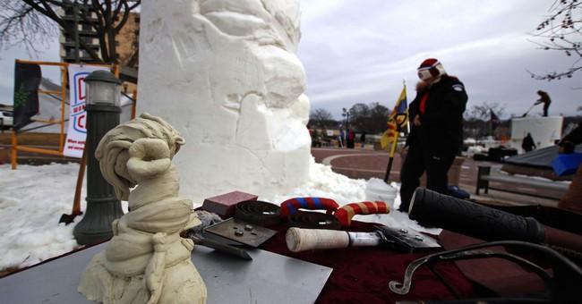Trump's a target at snow sculpting championship