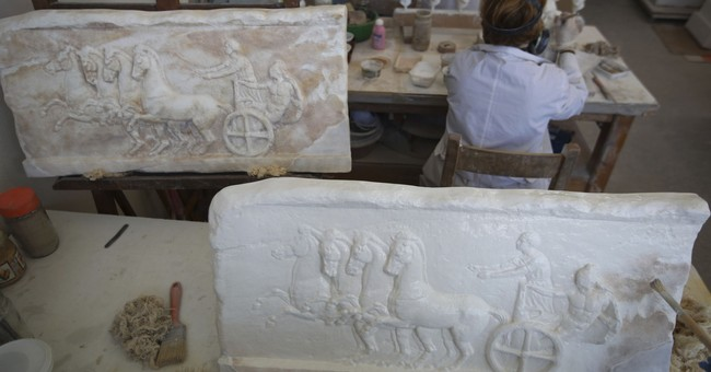 AP PHOTOS: Greek workshop recreates ancient masterpieces