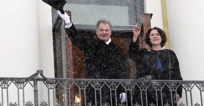 Finland's president Niniisto announces the birth of a son