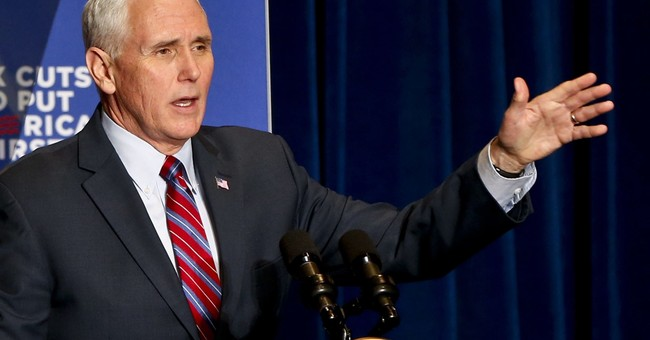 Pence stumps for GOP candidate in 1st '18 congressional race