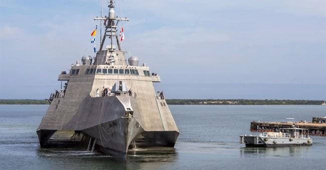 Warren Buffett on hand as Navy commissions newest warship