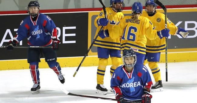 Koreas' combined women's hockey team debuts in friendly