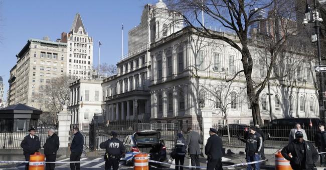 Police say man shoots himself fatally outside NY City Hall