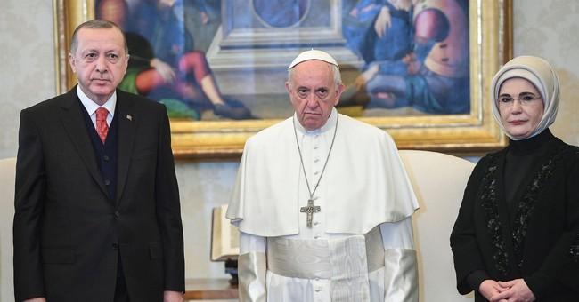 Kurds protest in Rome as Turkey's Erdogan meets pope