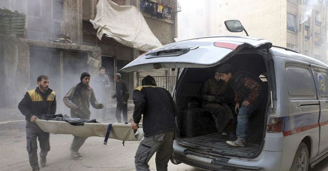 The Latest: Death toll from Syria airstrikes rises to 55
