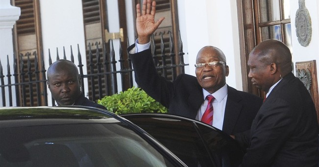 South Africa's embattled president won't give key speech