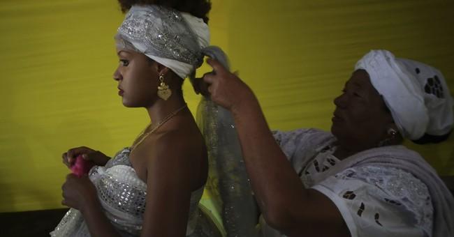 AP PHOTOS: Brazilians honor sea goddess Yemanja