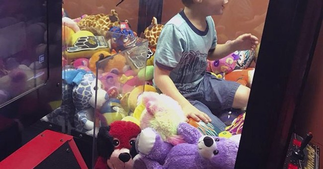 Give me a toy: Florida boy gets trapped in vending machine