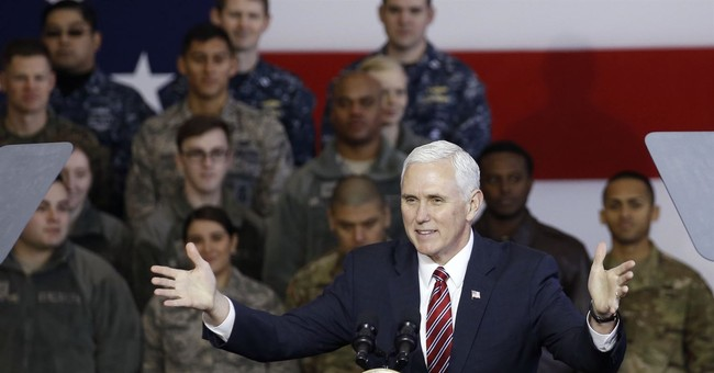 The Latest: Pence says N.K. must give up nukes before talks