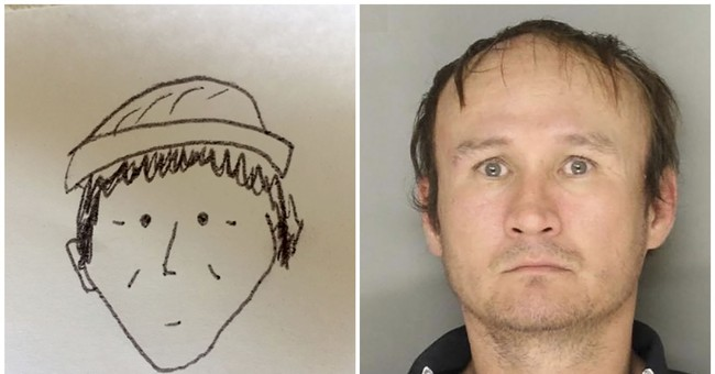 Simple sketch helps police ID market theft suspect