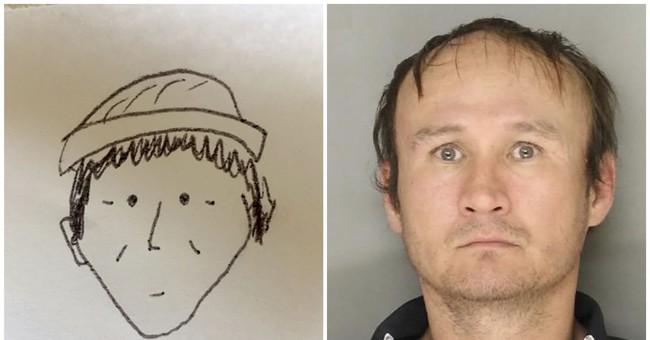 Simple sketch helps police ID market theft suspect