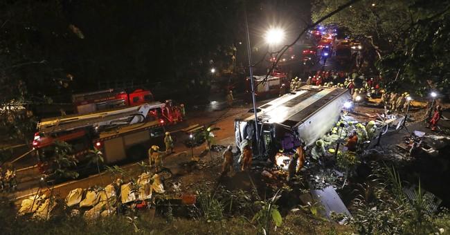 19 killed, dozens hurt in Hong Kong double-decker bus crash