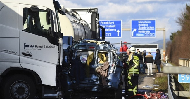 4 killed after truck rear-ends cars on German highway