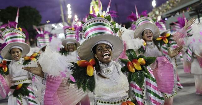 Ridicule of leaders, samba, skimpy garb at Brazil Carnival