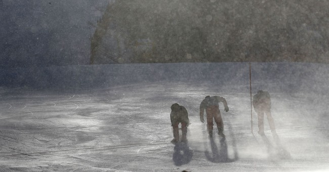 Wind, ice and cold are making this Olympics too wintry