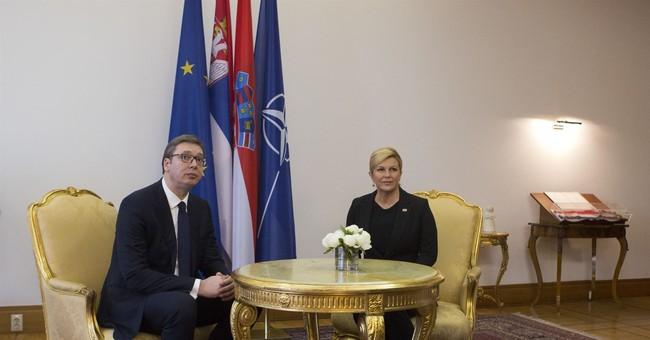 Serbian president visits Croatia amid tensions, protests