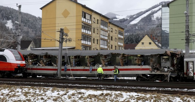 1 killed, 22 injured as trains collide in Austria