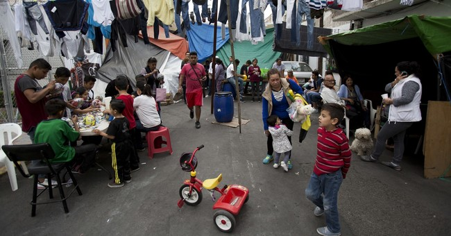In Mexico quake camps, a bit of holiday cheer for youngsters