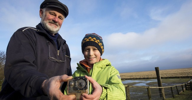English boy is reunited with camera that drifted to Germany