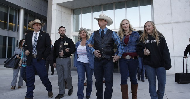 The Latest: Rancher Cliven Bundy walks out a free man