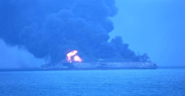 32 missing, oil tanker on fire after collision off China