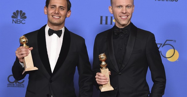 Benj Pasek, Justin Paul continue winning streak at Globes