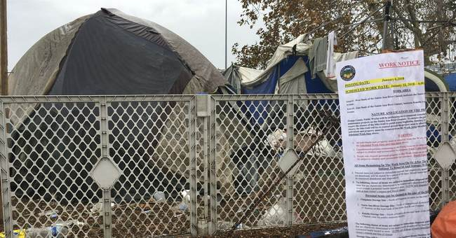 California officials tell hundreds to leave homeless camp