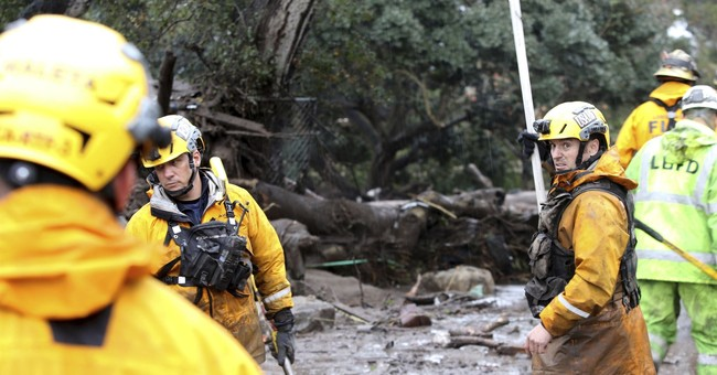 California storm: Cars swept away, body pinned against home
