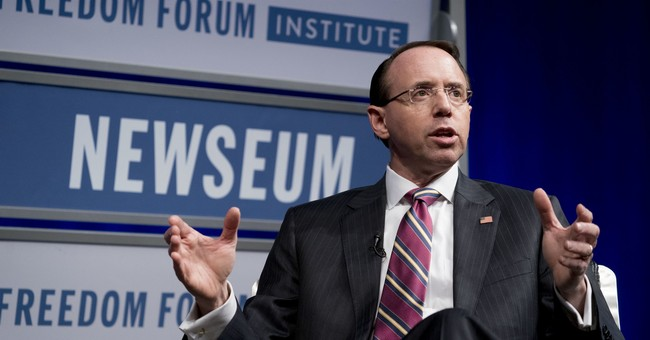 Silence! Deputy AG Rosenstein Threatened To Investigate GOP Lawmakers and Staff; UPDATE: He's Launching Internal Probe