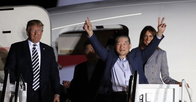 FREEDOM: Trump Welcomes Back Americans Detained By North Korea