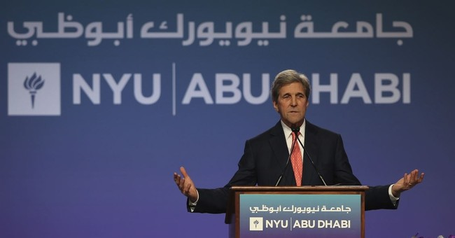 John Kerry in Abu Dhabi Says Civil Discourse is Threatened, Criticizes 'Bombastic' U.S. Politics