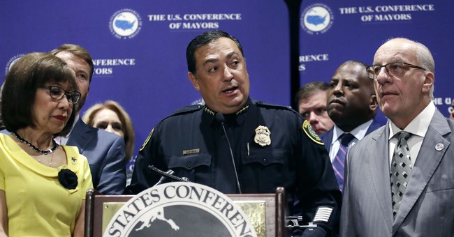 Houston Police Chief Grandstands For Gun Control After Officer's Death
